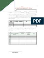 Modelo de Acta Comite de Aula