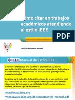 Cómo Citar en El Estilo IEEE