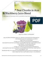 SuperFruit® Pear Chunks in Acai & Blackberry Juice Blend _ Del Monte Foods, Inc_