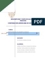 Descripcion y Especificacion de Puestos Cad 1