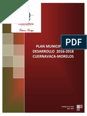 Pmd Cuernavaca 2016 2018 Vrfinalc Ok Terminado Pdf
