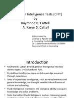 Culture Fair Intelligence Test (CFIT) Manual