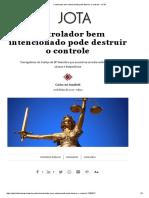 Controlador bem intencionado pode destruir o controle – JOTA.pdf