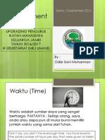 Time Management (Upgrading Pengurus 2016-2017)
