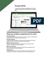 Microsoft Project 2016 Datasheet