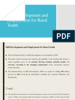 Skill Development and Employment for Rural Youth