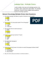 MCQ Quiz Sample