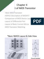 C-4 Layout of MOS Transistor
