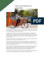 Santiago de Chile Ciudad Sostenible