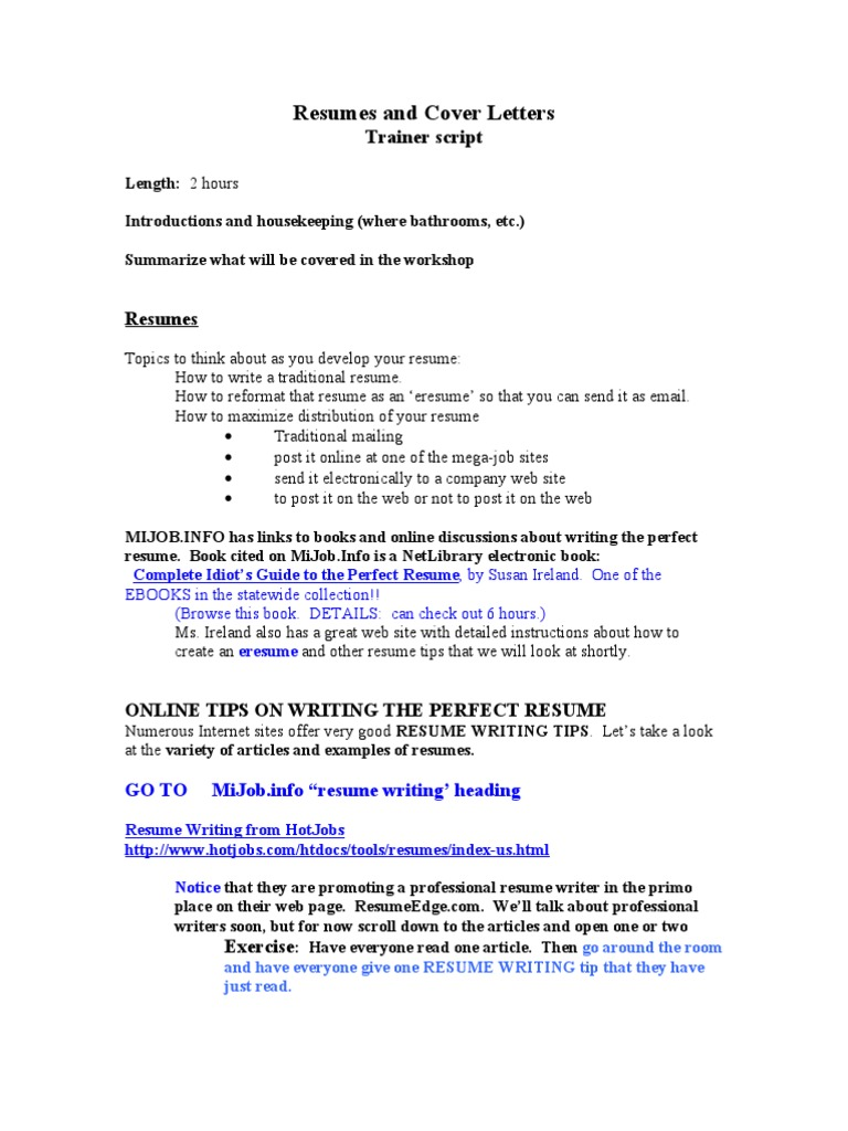 Resumes And Cover Letters Rsum Microsoft Word
