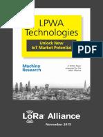LoRa Alliance Whitepaper LPWA Technologies
