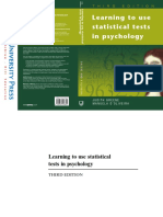 Greene & D'OliveiraLearning to Use Statistical Tests in Psychology