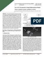 Sensitivity Analysis Study of CVT Parameters Using Mathematical Model