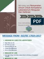 Pedoman Baru ISO 17025 2017 Fatchiyah New