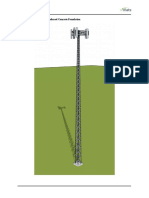 Telecommunication Tower Reinforced Concrete Foundation ACI318 14