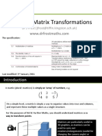 matrix transformation