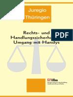 JUREGIO - Publikation des ThILLM bezüglich Rechts- und Handlungssicherheit im Umgang mit Handys