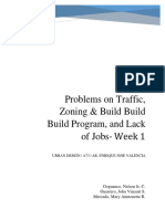 Problems on Traffic, Zoning & Build Build Build Program, and Unemployment in the Philippines