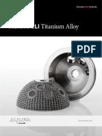 Arcam Ti6Al4V ELI Titanium Alloy