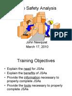 JSA - Job Safety Analysis