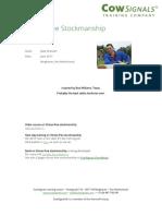 Stress-free Stockmanship B