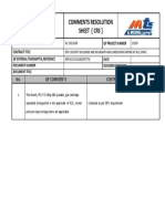 Comments Resolution Sheet