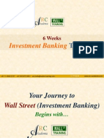 6 Weeks Investment Banking Training (11 October 2010)