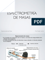 Espectrometría de Masas Freddy Carrillo
