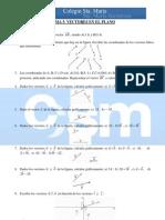 Ejercicios complementarios 4º Matemáticas - Tema 5 - Vectores