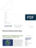 What Are the 4 Different Arc Flash PPE Categories in NFPA 70E_