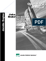 Jake Brake Operators Manual