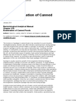 Bacteriological Analytical Manual Chapter 21A Examination of Canned Foods