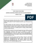 SCP Auditing Accounting Estimates Fair Value Measurements