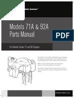 Jake Brake Parts Manual 71 92