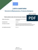 Alerta No. 023-2019 - 4a Actualizacion Sobre Caso Retiro Del Mercado Valsartán - Copia