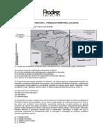 Lista de Exercicios 6 Formacao Territorial Do Brasil