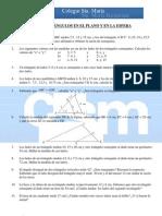 Ejercicios complementarios 4º Matemáticas - Tema 2 - Triángulos en el plano y la esfera