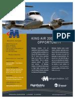 KIng Air 200 Captain Flyer