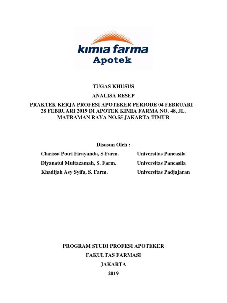 Analisa 100 Resep Kimia Farma 48 Fix Pdf