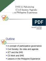 SMS in Advancing CSO Agenda