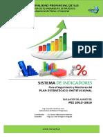 SISTEMA DE INDICADORES PARA EL SEGUIMIENTO Y MONITOREO DEL PLAN ESTRATEGICO INSTITUCIONAL