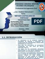 Metodo de Castigliano en Pórticos a i.