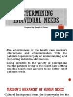 Determining Individual Needs (2)