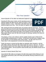 WWE Filter Press Operation