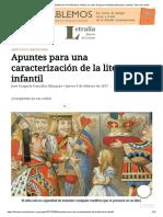 Apuntes Para Una Caracterización de La Literatura Infantil, Por José Gregorio González Márquez _ Letralia, Tierra de Letras