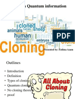 Cloning in Quantum Information Ppt
