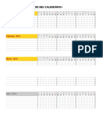 Planilha Calendario Checklist