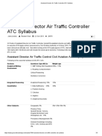 Assist. Director Air Traffic Controller (AD-ATC) Civil Aviation Authority (CAA) Revised Syllabus