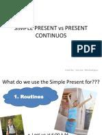 Simple Present vs Present Continuos