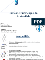 8 - Preparação e Recristalização Da Acetanilida – LIC 2013